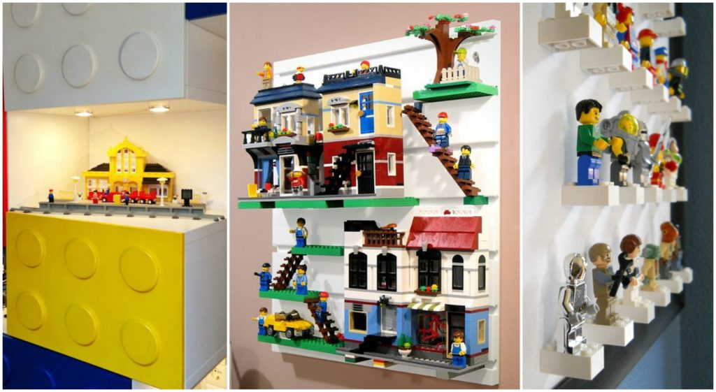 Amazing Lego Shelf for Kids Bedroom