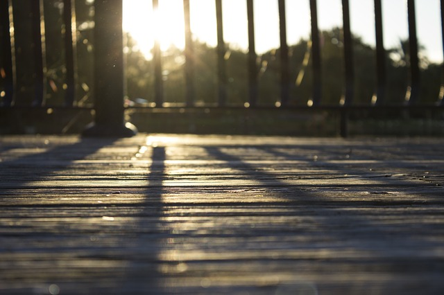 sunshine on decking