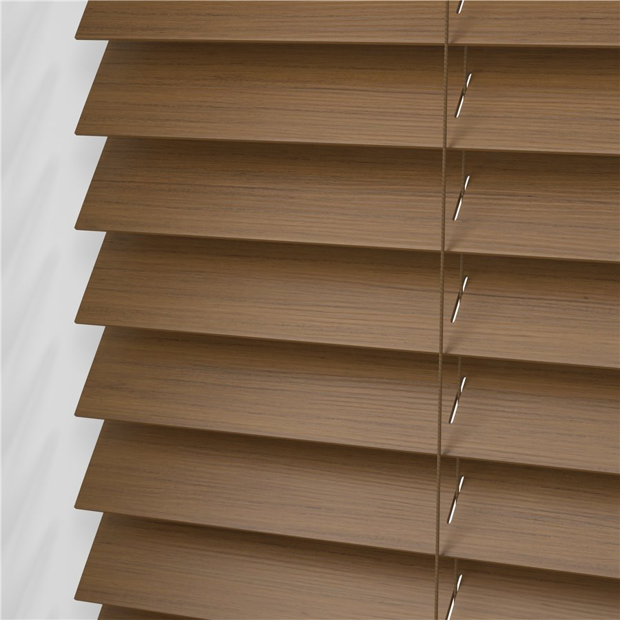 wooden blinds amber