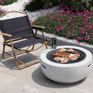 firepit with griddle